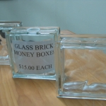 Glass Brick Money Box #4