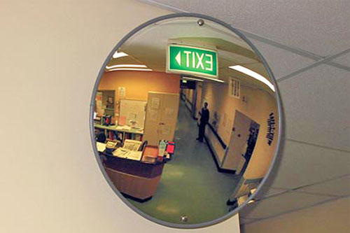 Safe-T-View Indoor Convex Mirror