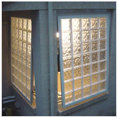 Wafer Glass Brick Awning Windows