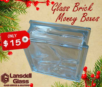 Glass Brick Money Box
